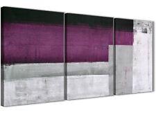 3 PEZZI Grigio Viola Pittura Cucina Accessori in Tela-ASTRATTO 3427 - 126 cm