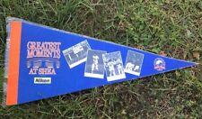 """GREATEST MOMENTS AT SHEA STADIUM NEW YORK NY METS NIKON Promo 18"""" Pennant SGA"""