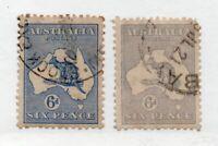 Australia - SG# 38 & 38b  Used    /     Lot 0720152