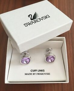 RARE BNIB Swarovski Classic Vintage Cuff Links $55 Retail - Tanzanite Purple