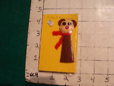 1966----FINGER PUPPETS--Duncan-Youree original in bag #3---BEAR with scarf