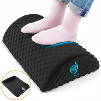 HUANUO Under Desk Foot Rest - Ergonomic Footrest with 2 Optional Covers Massage