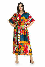 Boho Hippie Women Plus Size Tunic Cotton Long Gown Bath Robe Kaftan Casual Dress