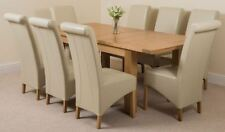 Oak with Extending and More than 8 Pieces Table & Chair Sets