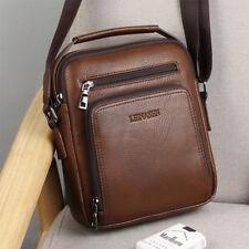 Men's Casual Shoulder Messenger Bags PU Leather Bag Male Zipper Satchel Handbag