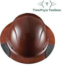 Lift Safety Hdf 15ng Dax Natural Brown Full Brim Hard Hat With Ratchet Suspension