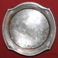 Antique French Art Deco Ravinet D'enfert Nickel Silver Plated Bowl