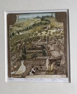 """GLYNN THOMAS R.E. b1945 Limited Edition ETCHING """"Tuscan Window"""" 147/150"""
