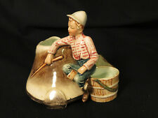 Vintage Horse Trainer Fairy or Pixie Planter Equestrian Horse's Hoof