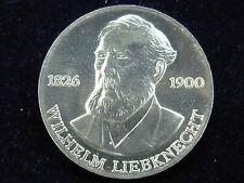 DDR. 20 marcos, 1976 (a), w. Liebknecht, j. -1561, plata.! ORIG.! St.!