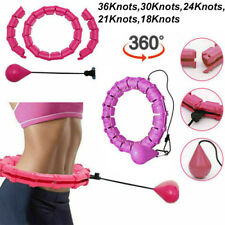 Smart Weighted Hula Hoop Waist Fitness Weight Loss Adjustable For Adult Kids