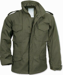 M-65 Field Jacket Olive Drab OD GREEN US Army Vet Navy Seabees Military Veteran