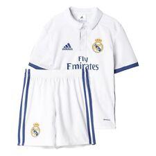Camisetas de fútbol de manga corta azul adidas