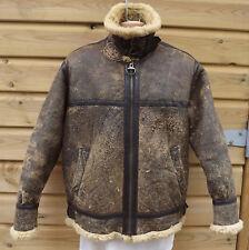 Vintage Brown Sheepskin B3 Leather Flying / Bomber Jacket - M