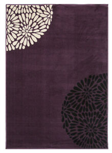 Plum Purple Floral Area Rugs SMALL LARGE HUGE Rugs For Living Room & Hallway NEW
