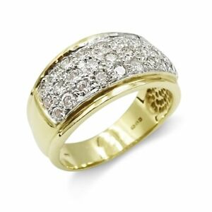 9ct Gold Wide Cluster Ring