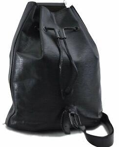 Authentic Louis Vuitton Epi Sac A Dos Shoulder Bag Black M80153 LV C8816