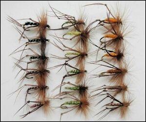 Hopper Trout Flies, 36 Pack, 6 Colours, Size 10/12/14, Fishing Flies