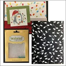 Christmas lights embossing folder Twinkling Holiday Taylored Expressions folders