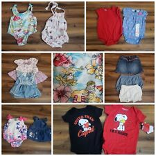 Baby Girls Mixed Clothing Lot Various Sizes 0-9 Months Bodysuits, Dresses & More