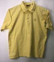 Masters Collection Mens Polo Golf Shirt Short Sleeve Yellow Size L