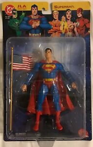 "DC Direct 2003 JLA Series SUPERMAN with Flag 6"" Action Figure Justice League"