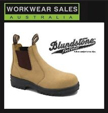 Blundstone 145 Mens Slip On Suede Workboots. Safety Steel Cap Work Boots UK Size