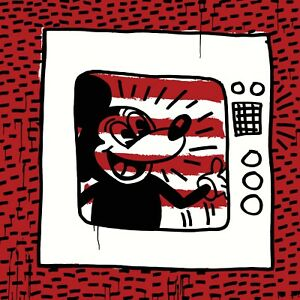 New Keith Haring Mickey Mouse Art Print Poster Canvas FREE SHIPPING
