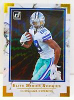 CeeDee Lamb RC 2020 Donruss Elite Series Rookies Gold Holo Refractor Card ESR-CL
