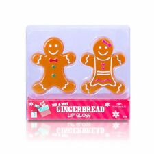 MR & MRS GINGERBREAD LIP GLOSS DUO SET VANILLA FLAVOUR GREAT CHRISTMAS GIFT
