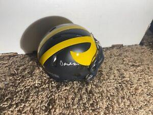 Michigan Wolverines DONOVAN EDWARDS Signed Mini Helmet