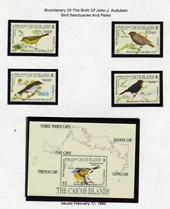 CAICOS ISLANDS   MNH   60-64    Birds   CC189
