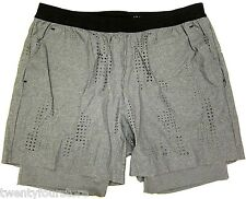 NWT $175 Mens Theory+ Dune Camo Perforated Shorts in Fog Heather Gray sz XXL