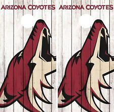 Arizona Coyote Cornhole Wrap NHL Team Flag Game Board Skin Set Vinyl Decal CO182