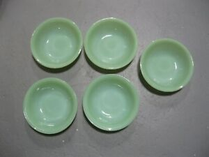 fire king jadeite lot of soup bowls