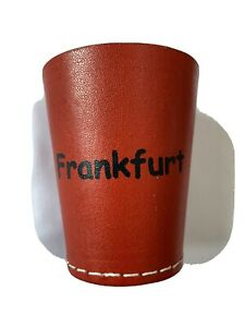 Leather dice cup, Quiet Shaker, Personalised, Perudo, Casino Games, Yahtzee,