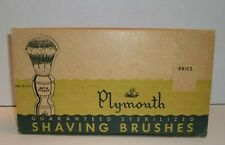 Vintage NEW Store Display NOS 6 Plymouth Shaving Brushes Sterilized Brush