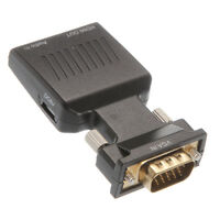VGA Male In to HDMI Female Out With Audio L/R Converter Adapter PC to 1080P HDTV