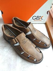 GBX Wally Men's Sandals shoe, Tan (9.5 or 10) New - Free Shipping
