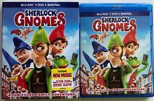 SHERLOCK GNOMES BLU RAY DVD 2 DISC SET + SLIPCOVER SLEEVE FREE WORLD SHIPPING