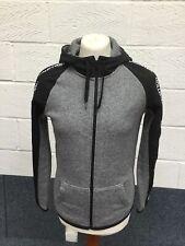 Hollister Fleece Lined Grey & Black Hooded Zip Up Jacket Mens Teen XS