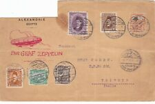 Egypt 1931 Cover sent by Graf Zeppelin to Italy-Missing top left corner