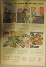 Swift and Company Ad: Swift's Premium Veal 1940's Size: 11 x 15 inches