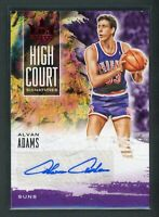 2019-20 ALVAN ADAMS 26/99 AUTO PANINI COURT KINGS HIGH COURT AUTOGRAPHS
