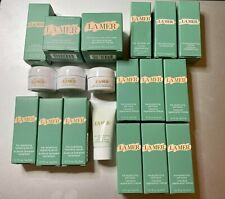 19 lot of La Mer Samples Soft cream, eye cream serums, oil & more with bag