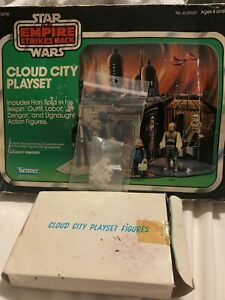 Vintage Star Wars Cloud City Playset, Sears with box and Foot Pegs Kenner