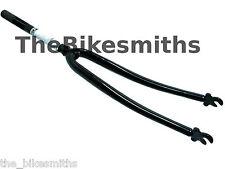 "700C 1 Inch 200mm BLACK Threaded Road Bike Fork Cromoly Classic Fixed Gear 1"""