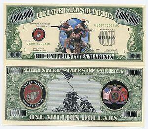 United States Marines 1 Million Dollars Novelty Money