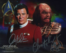 William Shatner & Christopher Lloyd ++ Autogramm ++ STAR TREK ++ Cast