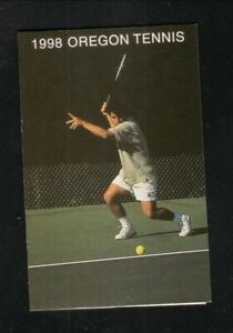 Oregon Ducks--1998 Tennis Pocket Schedule--U-Lane-O Credit Union